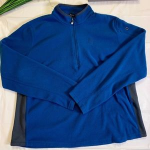 Men's Lands End quarter zip pullover sweater.